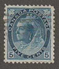 """Canada 1899 #79b Queen Victoria """"Numeral"""" Issue - F/VF Used"""