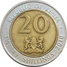 Kenya 20 Shillings 2010 KM#36.2 Mzee Jomo Kenyatta (4509) bi-metallic