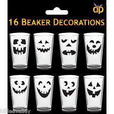 Halloween Tazas Stickers Spooky Halloween Gafas Beakers Tazas Decoraciones 16