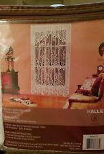 "White Floral Lace Vivatex Hallie 3 PK Curtain Rod Pocket Panel 60""x 63""NEW"