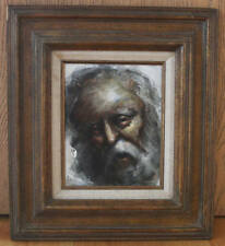 Original Oil Painting on Masonite - Old Man Portrait Signed by Frederick Kirsch