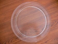 """12 1/2"""" DOMETIC GLASS TURNTABLE PLATE / TRAY #G004 Used Clean"""