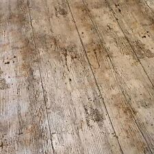 VINTAGE BROWN OAK WOODEN PLANK RUSTIC WOOD EFFECT PVC VINYL TABLE CLOTH COVER