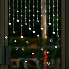 1Set Removable Christmas stars Decor PVC Art Wall Stickers Windows Decals