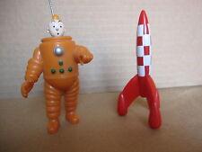 Rare Cosmonaut TINTIN Space figurine Herge Destination Moon Spacesuit & Rocket