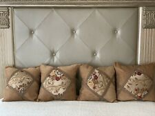 Couch Bed Decorative Pillows Set Of 4 Pc Brown/ Floral