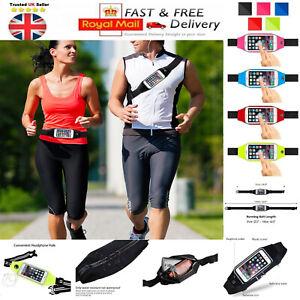 UK Sports Running Jogging Gym Waist Strap Case Holder Bags For Mobile Phones