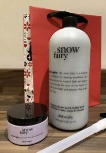 PHILOSOPHY SNOW FAIRY SHAMPOO BATH & SHOWER GEL 946ml & BODY SOUFFLÉ 120ml NEW