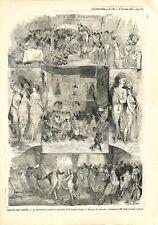 Les Merveilleuses de Victorien Sardou Théâtre des Variétés Paris GRAVURE  1873
