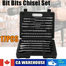 17pcs Rotary Hammer Drill SDS + Plus Bit Bits Chisel Set Concrete Grooving Tools