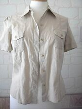 Marks & Spencer beige linen & cotton shirt uk 14