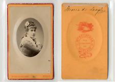 Beuscher, Morlaix, Jeune fille, Melle Marie de Langley, circa 1880 CDV vintage a