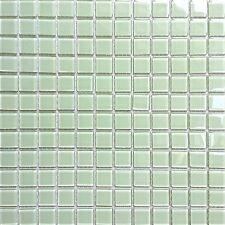 1 SQ M Light Green Glass Feature Wall Bathroom Splashbacks Mosaic Tiles MT0021