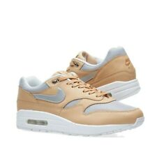 UK 3 Women's Nike Air Max 1 SE Prem Tan/Silver Trainers EUR 36 US 5.5 AO0795-200