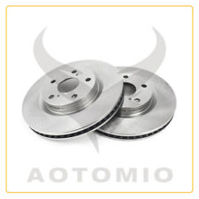Pair (2) of Front Left & Right Brake Rotors For ES300H ES350 Toyota Avalon Camry