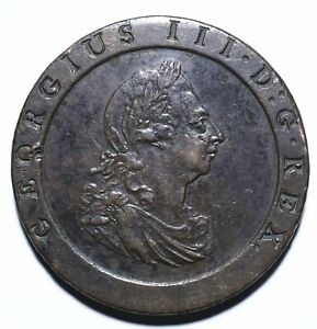 1797 UK One 1 Penny - George III 2nd Issue; 'Cartwheel' - Lot 1251