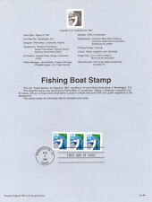 #9148 19c Fishing Boat Stamp #2529 USPS Souvenir Page