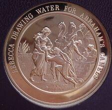 Thomason Medallic Bible 12: REBEKAH DRAWING WATER FOR ABRAHAM'S CAMELS. Franklin