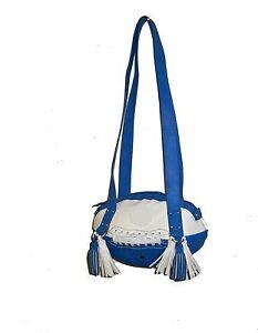 NEW r25 Royal Blue/White FOOTBALL PURSE Shoulder Bag NFL Colts Cowboys Penn St