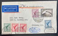 1928 Friedrichshafen Germany Graf Zeppelin LZ127 Cover to USA Sc#C37