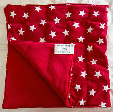 WEIGHTED BLANKET 1.7kg shoulder lap pad AUTISM Aspergers ADHD red stars