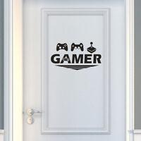 Gamer Home Decor Door Wall Sticker Bedroom Video Game Room Decor Decal  OJ