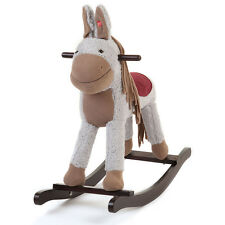 Kids Wooden Rocking Horse - Children Ride On Rocker Toy Nursery w/Sounds