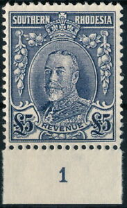 S.RHODESIA, MARCHAL ISSUE, £ 5 VALUE, UM/NH FORGERY REVENUE STAMP.   #M19