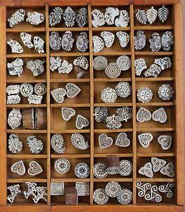 Textilstempel Holzstempel Stempel Henna Druckstock Blaudruck Indien - Medium