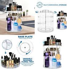 Organizador Maquillaje cosmeticos giratorio 360º,de acrilico,12 estantes,36x26cm