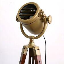Tripod Movie Studio Brass Antique Spot Light Table Desk Lamp Light Fixture