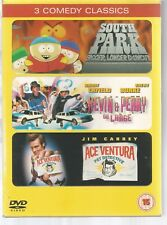 ACE VENTURA PET DETECTIVE / SOUTH PARK MOVIE / KEVIN & PERRY GO LARGE - UK DVD