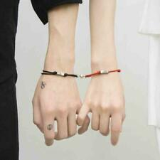 2Pcs Magnetic Bracelet Kit Friendship Rope Braided Distance Couple Lovers Gifts