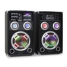 PARTY KARAOKE ANLAGE PA DJ AKTIV BOXEN LAUTSPRECHER PAAR USB SD MP3 PLAYER NEU