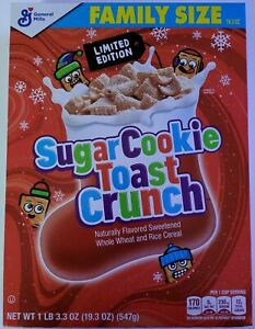 Sugar Cookie Toast Crunch Cereal Limited Edition General Mills Family Size Box