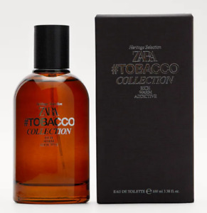 ZARA TOBACCO COLLECTION Rich Warm Addictive 3.4oz (100ml) EDT Spray NEW & SEALED