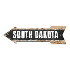 AP-0116 SOUTH DAKOTA Arrow Street Tin Chic Sign Name Sign Home man cave Decor