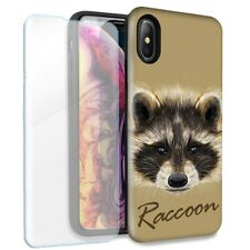 Raccoon Double Layer Case Glass Screen For Apple iPhone XR