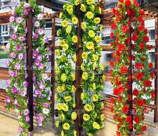 85ft faux silk rose garlands artificial wedding flower Home Garden party decor