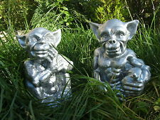 LATEX MOULD MOULDS MOLD.       PAIR OF SITTING GARGOYLES HANDS/FACE