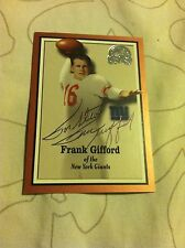 Frank Gifford Personalized Autograph Football Card