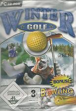 CD-ROM + Winter Golf + Bonus Winter Bowling + Golfprofi + Simulation + Abschlag