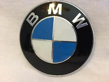 T0483 BMW 82mm (3 1/4In) Hood Trunk 2 Pin Roundel Emblem Badge E36 E39 E60 E90