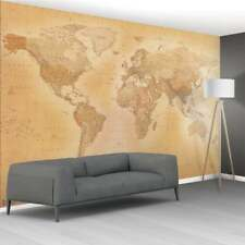 Wall mural photo wallpaper 366x253cm Ancient map of the World for home & office