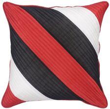 Rot und Schwarz Dupion Seide Kissenbezug mit UMRANDUNG aus Indien - 40 x 40 cm