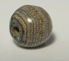 ANCIENT RARE INDO-TIBETAN BANDED AGATE BEAD (great patina)
