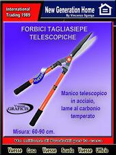 FORBICI TAGLIASIEPE  Manico telescopico in acciaio, lame al carbonio cm 60-90