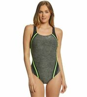 Women's Speedo Heather Quantum Splice One Piece Competition Swimsuit Size 12