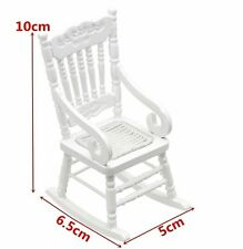 Dolls house white rocking chair 1:12 scale