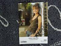 "HAND SIGNED 6"" x 4"" PHOTO CARD - EASTENDERS - KARA TOINTON - DAWN SWANN"